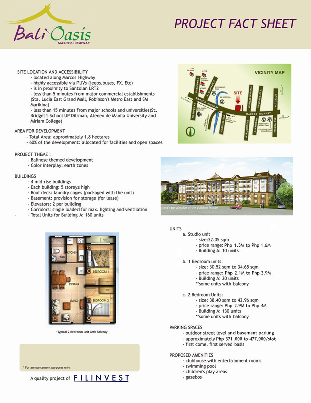 bali oasis project fact sheet