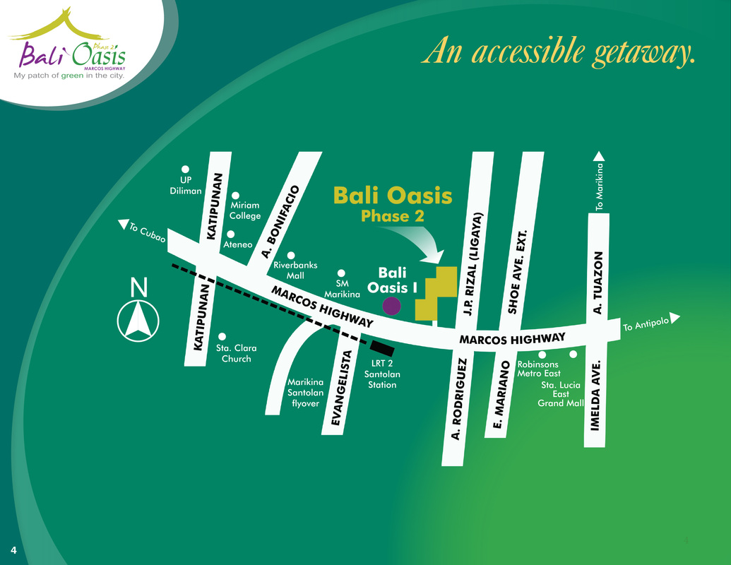 bali oasis phase 1 and 2 vicinity map
